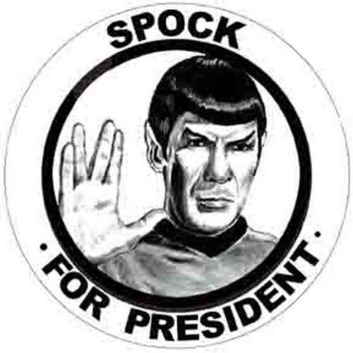 """/"""" SPOCK For President /""""    Star Trek  Funny  Political  Bumper Sticker Decal"""