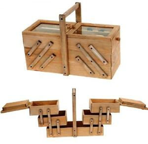 LARGE-VICTORIAN-STYLE-WOODEN-SEWING-THREAD-BOX-VINTAGE-CANTILEVER-STORAGE-354090