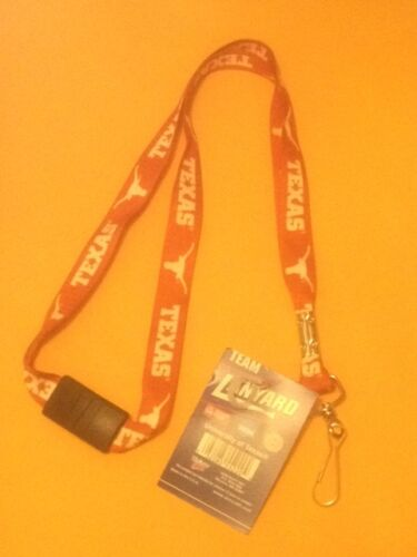 In Stock Immed Ship BRAND NEW Lanyard w//Clasp TEXAS LONGHORNS