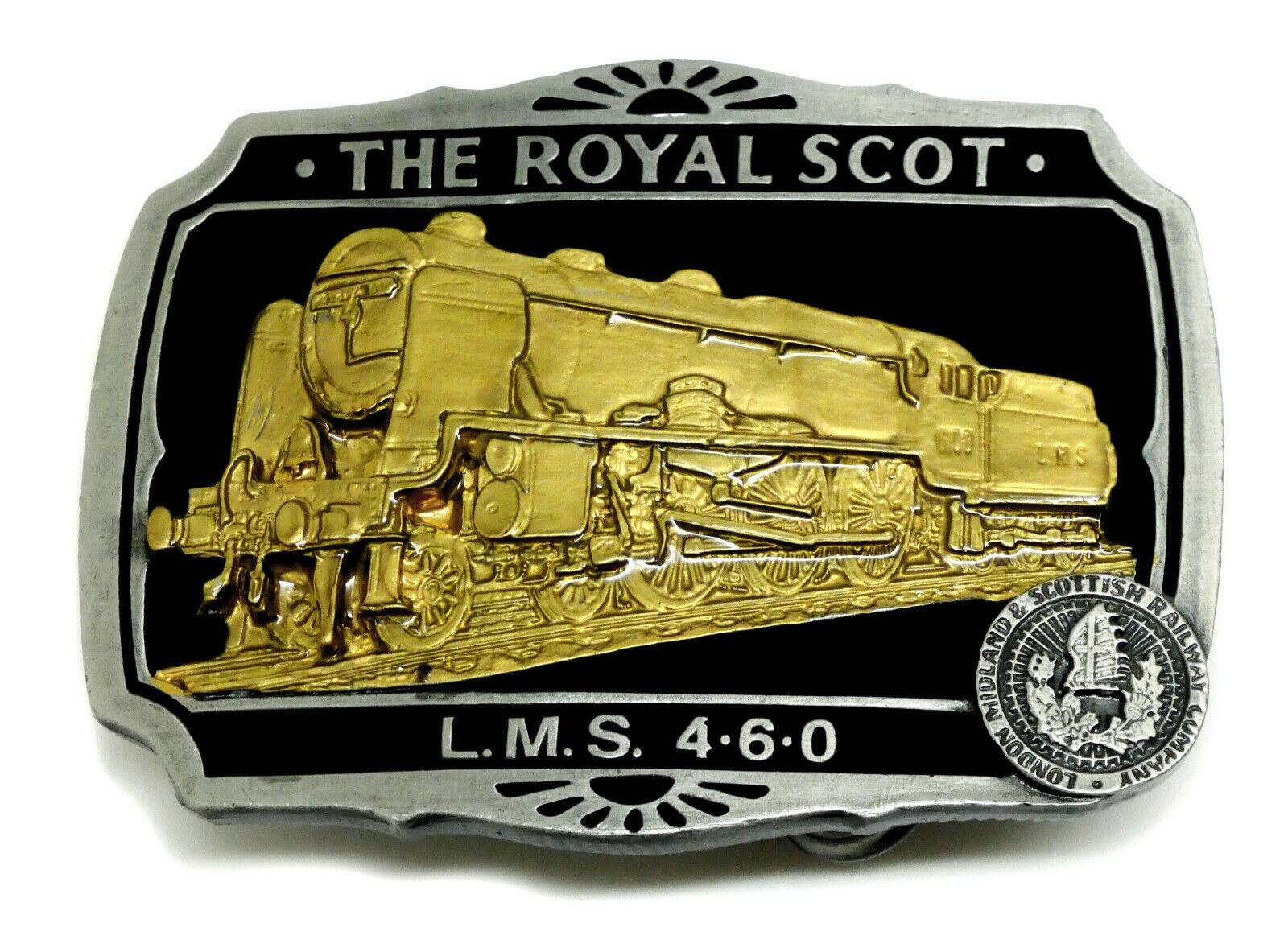 The Royal Scot Belt Buckle LMS 460 Locomotive Authentic Dragon Designs Product
