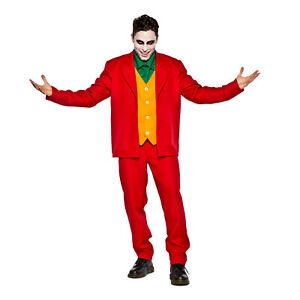 Mens-Joker-Red-Suit-Halloween-Costume-Joachin-Villain-Adult-S-M-L-XL-2XL