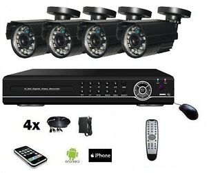 cam ra ext rieur bullet kit de vid o surveillance syst me. Black Bedroom Furniture Sets. Home Design Ideas