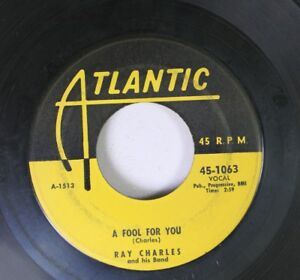 Soul-45-Ray-Charles-A-Fool-For-You-This-Little-Girl-Of-Mine-On-Atlantic