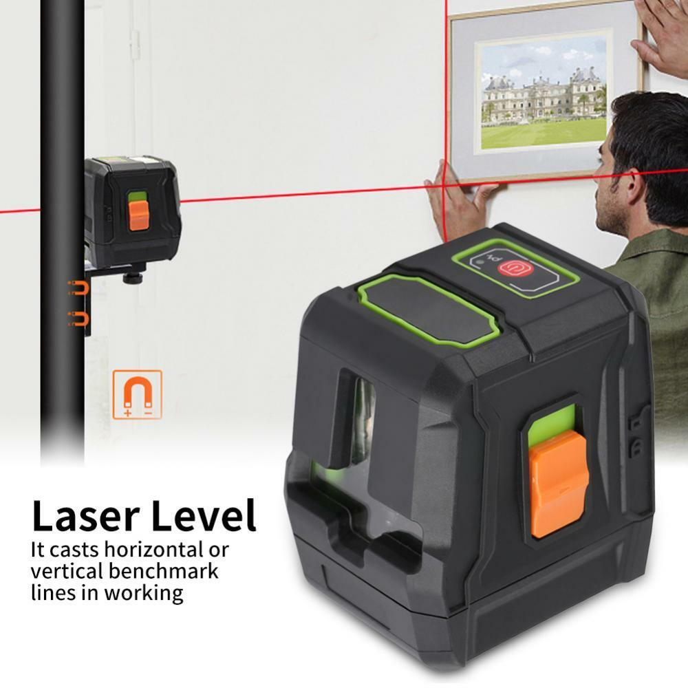 AK-011G R 2 Lines Red Green Laser Level Line Instrument Waterproof UBS