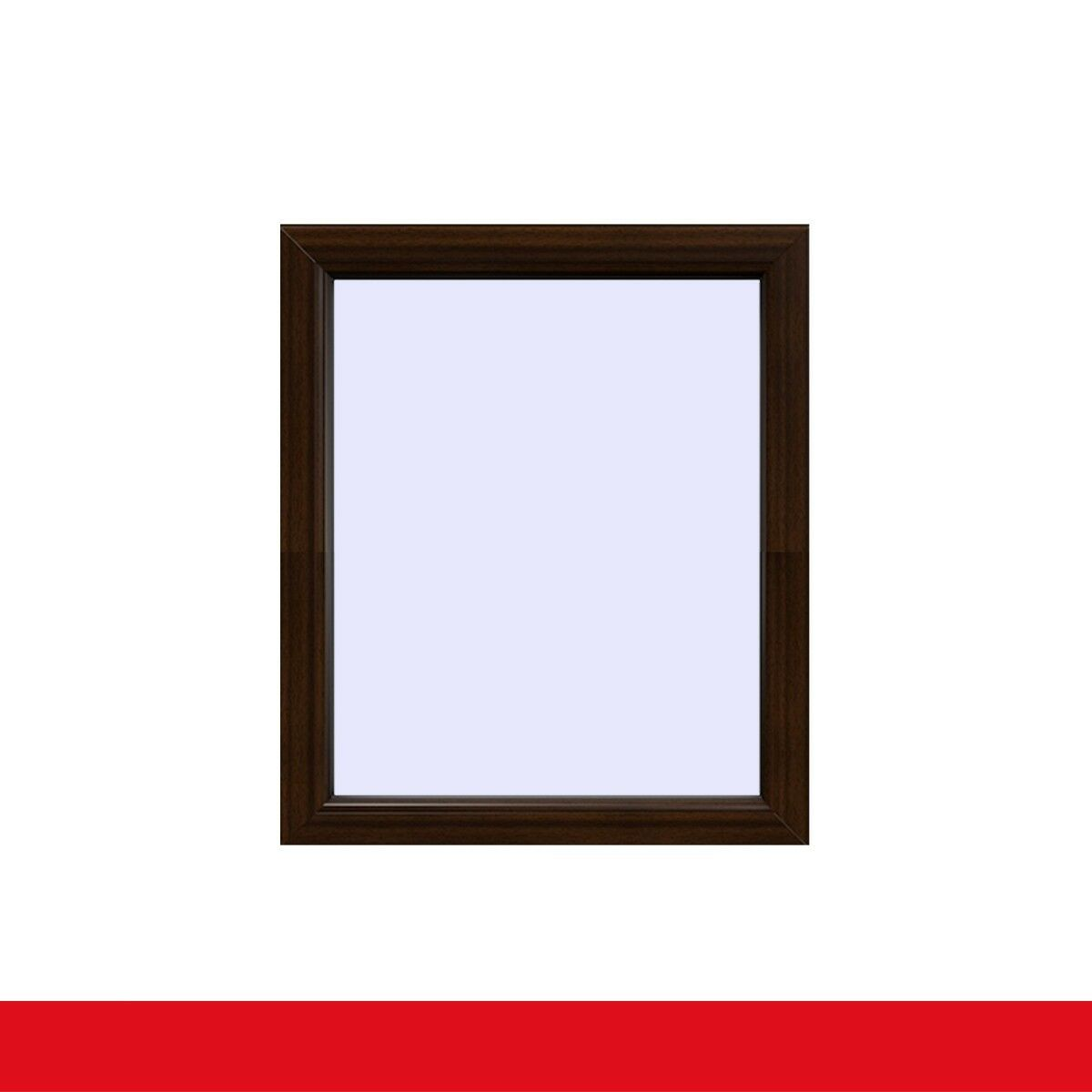 Festverglasung Fenster Mahagoni beidseitig 1 flg. Fest im Rahmen