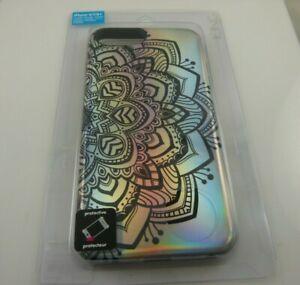 fits-iPhone-6-7-8-phone-case-Hard-plastic-flower-henna-like-print-metallic