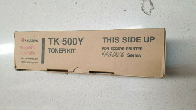 Genuine Kyocera TK 500Y Yellow Toner, Brand New See Photos