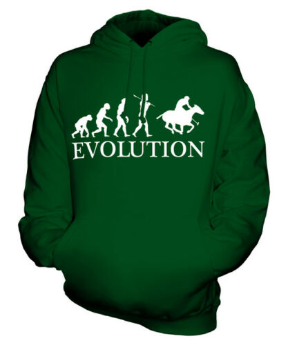POLO EVOLUTION OF MAN UNISEX HOODIE MENS WOMENS LADIES GIFT HORSE RIDING RIDER