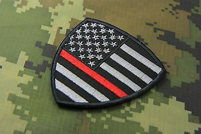 ARIZONA FLAG THIN RED LINE FIREFIGHTER HOOK BACKING  MORALE PATCH  3X2 INCH