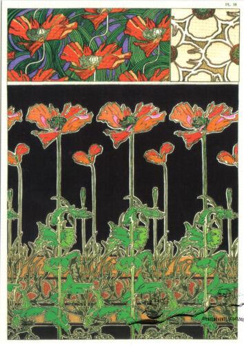 Alphonse Marie Mucha Kunstpostkarte Documents Decoratifs