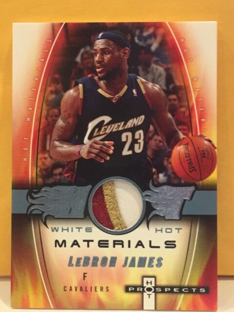 f4e37495c85e6 LEBRON JAMES 2006-07 WHITE HOT MATERIALS PROSPECTS GAME WORN 3 COLOR PATCH  2