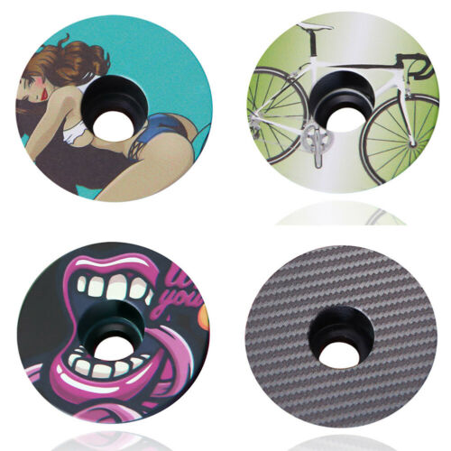 Carbon Fiber MTB Bicycle Bike Cycling Handlebar Stem Headset Top Cap Cover New