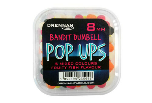 5 MIXED COLOURS POP UPS FRUITY FISH FLAVOUR DRENNAN