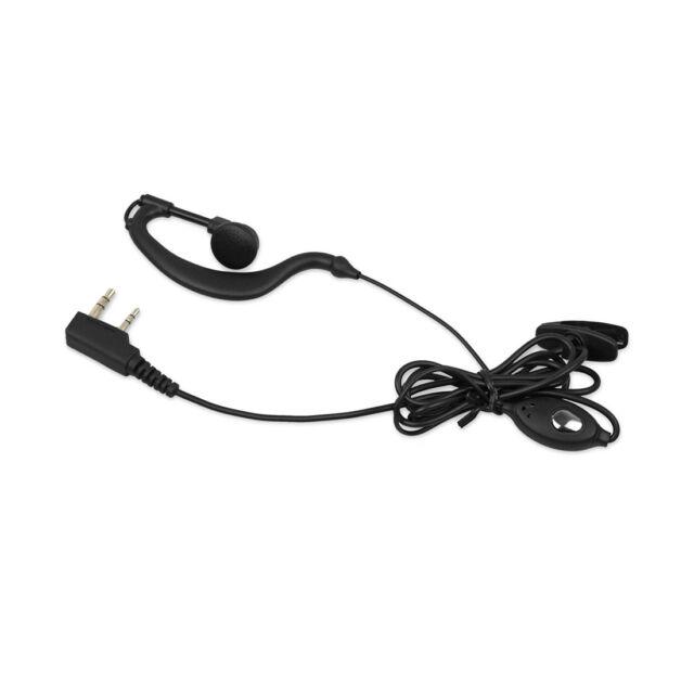 2x Mic Headset Earpiece Earphone 2 PIN Hanger for Baofeng Walkie Talkie Rad W7N3