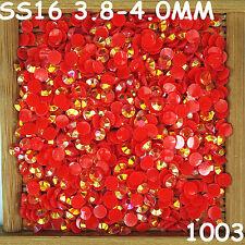 6000pcs SS16 Red AB Non Hotfix Crystal Acryl Rhinestone Round Beads Flatback