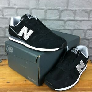 Details about NEW BALANCE MENS UK 9.5 EU 44 373 V2 BLACK SILVER SUEDE TRAINERS C RRP £75