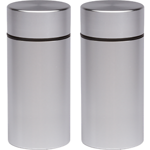 2x Airtight Smell Proof Container - New Aluminum Herb -Stash- Storage Jar