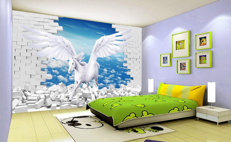 3D Himmel Weiße Pferde 865 Tapete Wandgemälde Tapete Tapeten Bild Familie DE