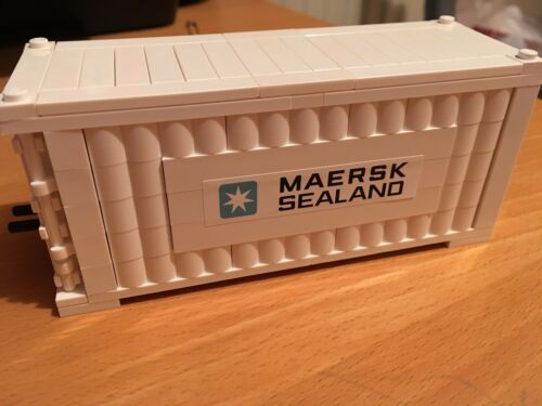 LEGO MAERSK LINE TRAIN SHIP SHIPPING CONTAINER WHITE ROUND LOG BRICK