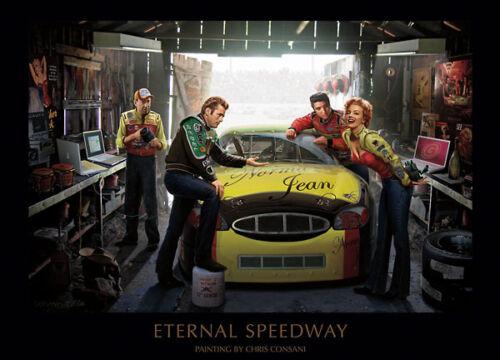 Chris Consani Eternal Speedway Elvis Marilyn James Dean Print Poster 24x36