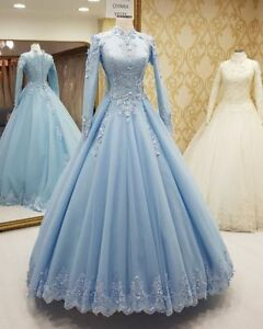 3abc0b4eeed Long Sleeve Muslim Hijab Prom Dress Formal Party Evening Gown with ...