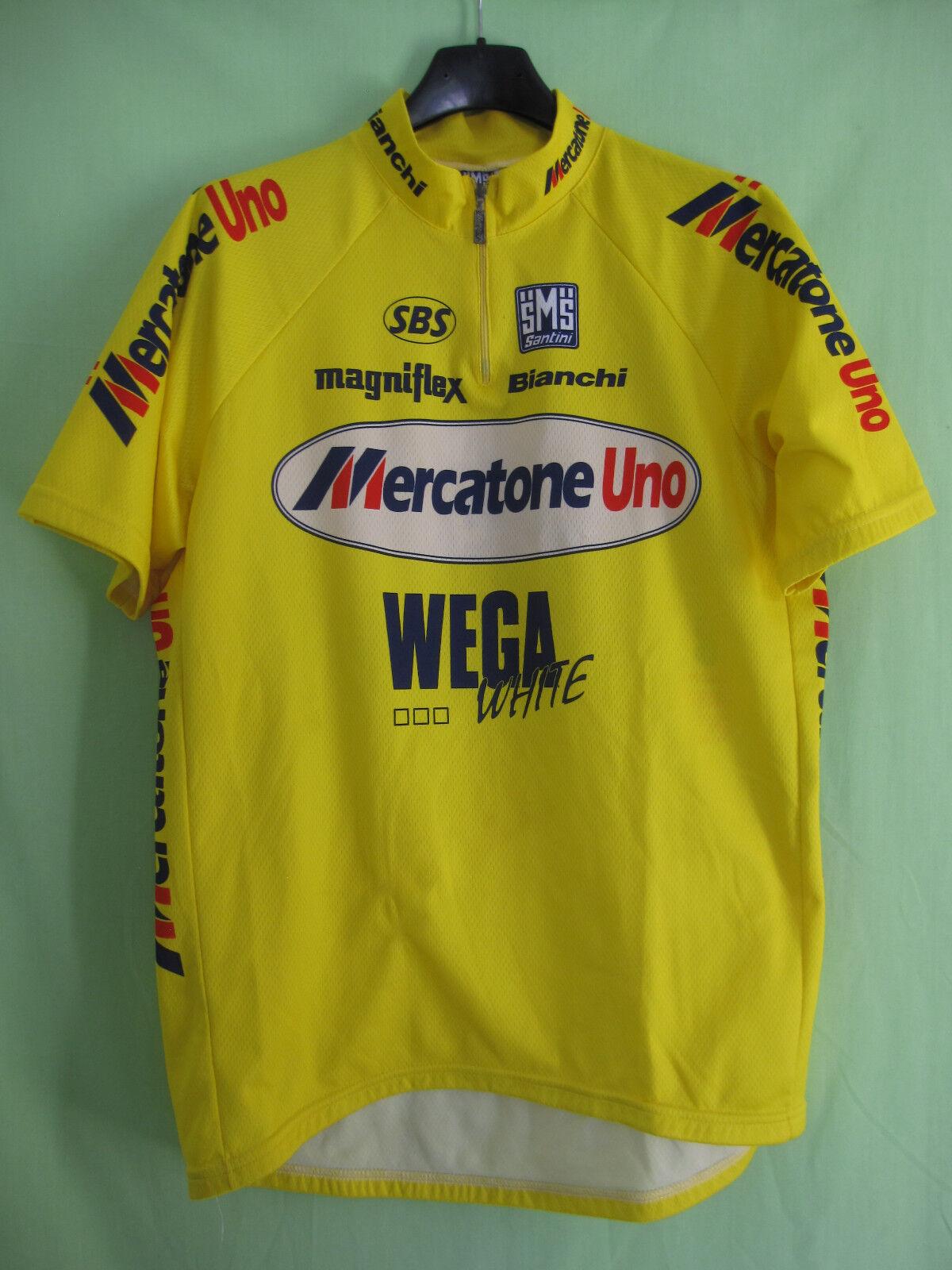 Maillot cycliste Mercatone Uno Wega Tour 1997 Santini Vintage Jersey - XXL