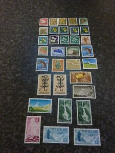 NEW ZEALAND POSTAGE STAMPS SG781-802 INC SHADES & CHALK SURFACE PAPER FMM