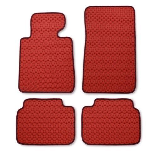 10//07 Ruvido tappetini in gomma Octagon Rosso BMW 1er e82 e 82 COUPE a partire da BJ