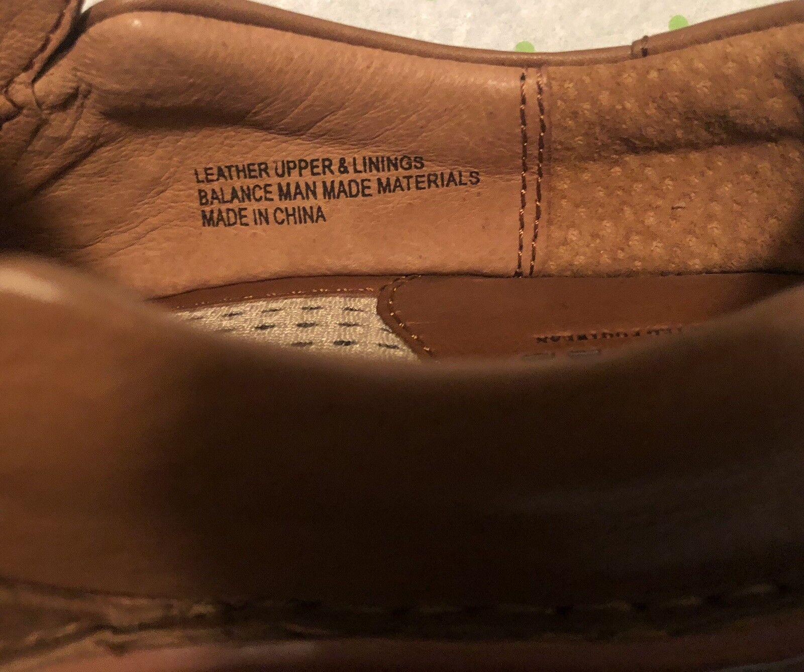 New BORN Madrea W21280 Tan Sz Slip-on Loafers Flats Buckle Leder Damenschuhe Sz Tan 6 36.5 cb2a4c