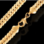 18k-Gold-Karat-Armkette-6MM-Panzerkette-Armband-Herren-Damen-fein-vergoldet-GA8 Indexbild 2
