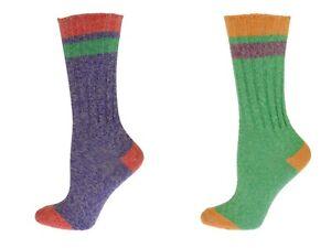 Sierra-Socks-Women-Twisted-Cotton-Colorful-Outdoor-Crew-Socks-W5067