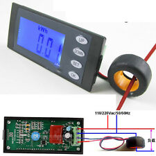 5 in 1 100A AC Digital power Meter Volt Amp kWh Watt energy Time clock 110v 220v