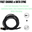 miniature 3 - 3 Pack 3/6/10Ft Micro USB Cable Fast Charge For Samsung Android LG Charger Cord