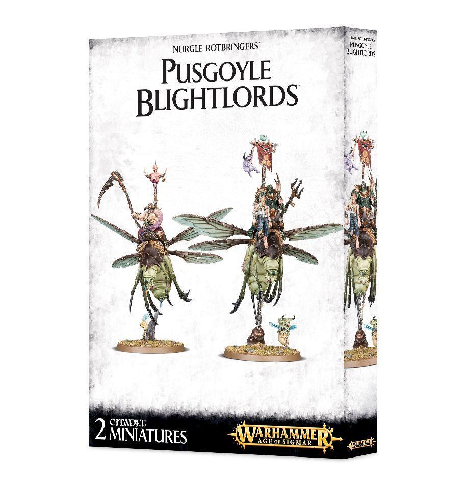 Warhammer Age of Sigmar Chaos Nurgle Pusgoyle Blightlords plastic new