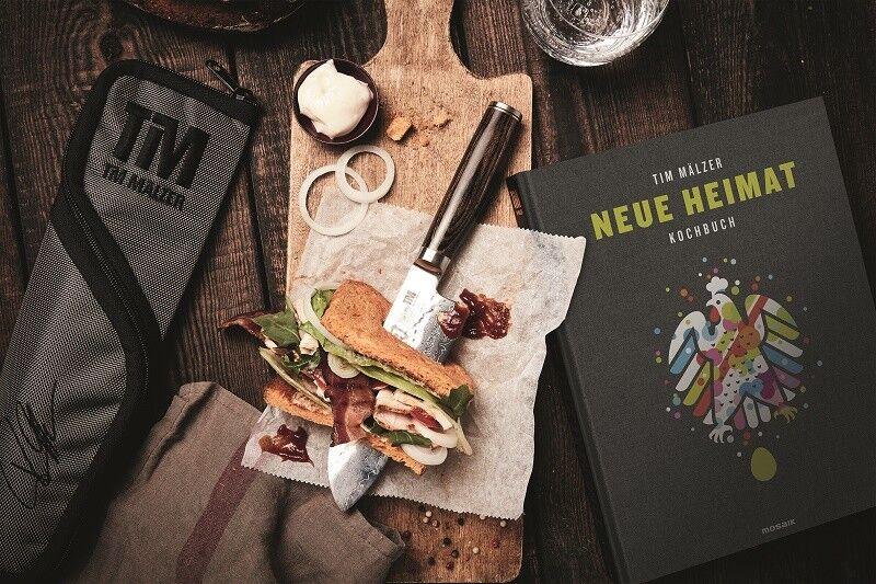 KAI SHUN PREMIER PREMIER PREMIER TIM MÄLZER Set 3 tlg. Santokumesser + Kochbuch + Messertasche    | Lebhaft und liebenswert  7d74a1