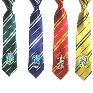 Harry-Potter-House-Ties-Slytherin-Gryffindor-Hufflepuff-Ravenclaw