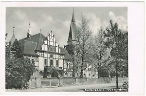 Ansichtskarte Bernburg an der Saale - FDGB-Kuranstalt - Eingangsbereich - s/w