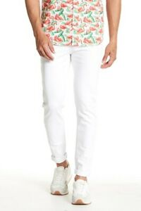 Sovereign-Code-155022-Men-039-s-The-Boss-Slim-Fit-White-Slim-Fitted-Jeans-Size-32