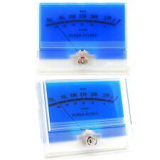 2x Mcintosh Classic Blue Panel Vu Meter Db Audio Power Amplifier With Backlight
