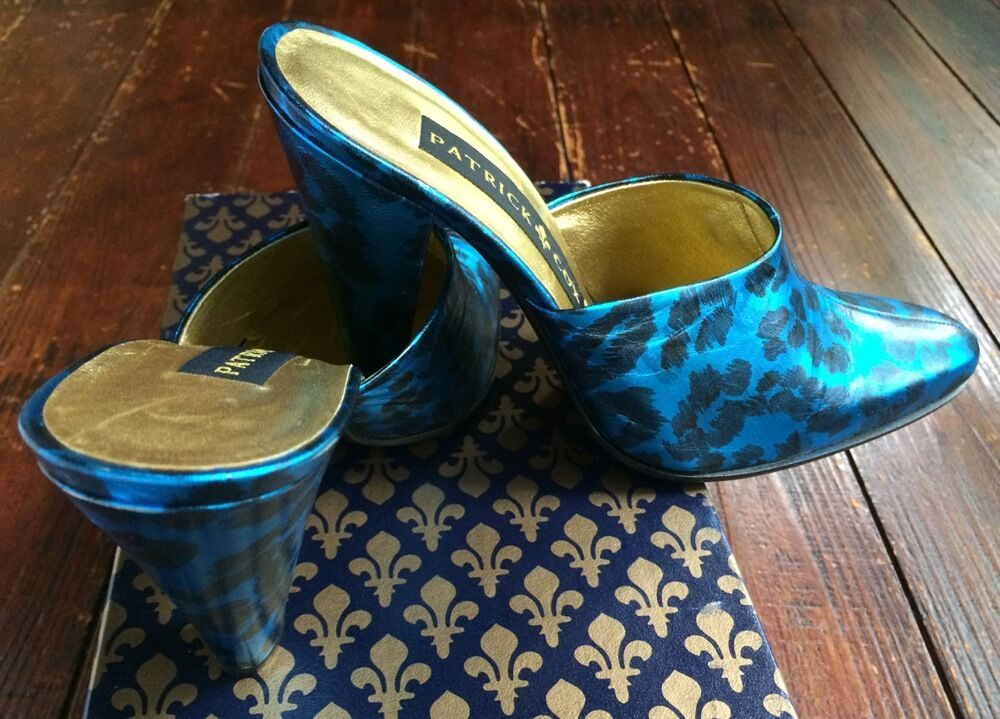 Patrick Cox in Blue Leopard Shoes Made in Cox Italy Never Worn European Size 37   0e1c78