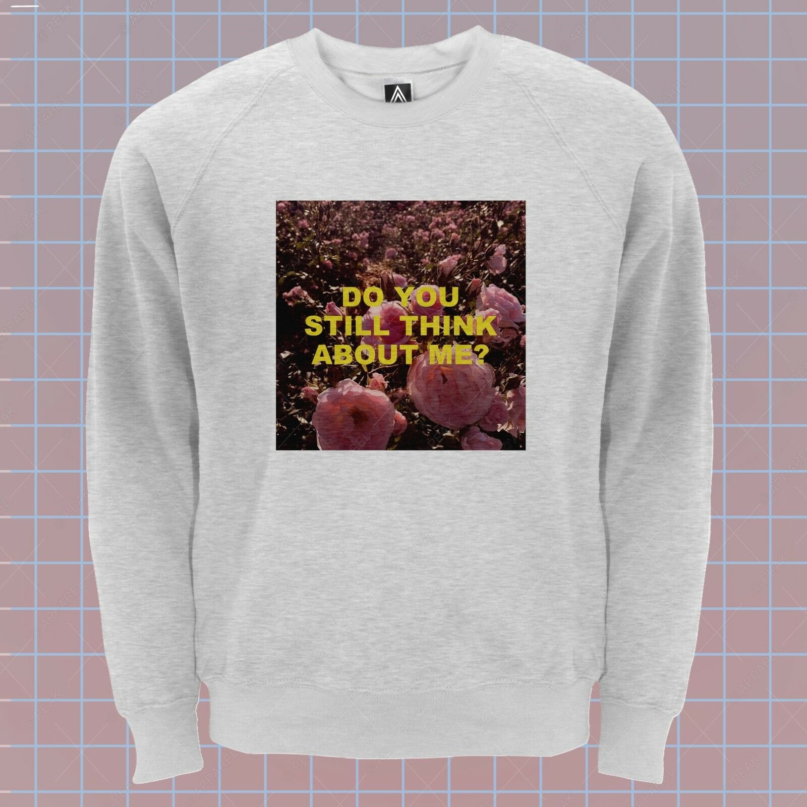 Still Think Sweatshirt Feelings pinks Hipster Jumper Retro Slogan Breakup Top