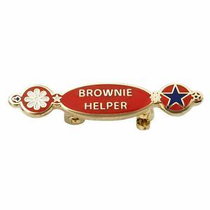 METAL-BADGE-BROWNIE-HELPER-GIRL-GUIDING-OFFICIAL-SUPPLIER