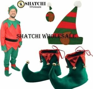 Adultes Lutin Chapeau Avec Lutin Oreilles Noël Fancy Dress Costume Chapeaux HBW00098 UK