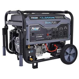 image is loading pulsar 12000w portable dual fuel propane gas generator