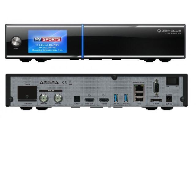 Gigablue UHD Quad 4K Linux IPTV 2 x DVB-S2 Twin Sat Receiver HDTV