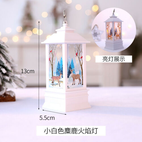 Christmas Tree Hanging Lamp Santa Claus Deer Snowman Light Home Decor Bs