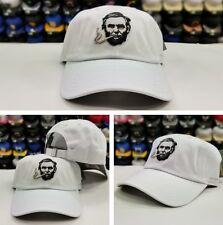 WHITE SMOKIN ABE DAD HAT Brand by Field Grade Snapback Hat