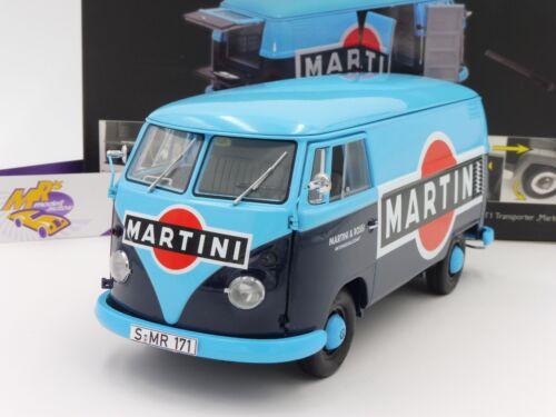 "Schuco 00285 # Volkswagen VW T1 Transporter Bj 59-63 blau-blau /"" MARTINI /"" 1:18"