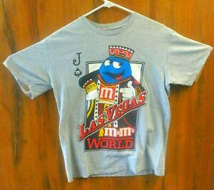 M-amp-M-039-s-World-Las-Vegas-Gambler-Poker-Joker-Cards-T-Shirt-Size-M