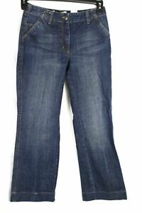 Talbots-Women-039-s-Jeans-Boot-Cut-Cropped-Side-Pocket-Denim-Size-2P